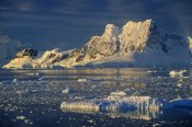 Colin Monteath - Evening light on peaks behind Paradise Bay, Antarctic Peninsula, Antarctica
