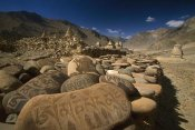 Colin Monteath - Carved Buddhist mani stones, Zangla, Kingdom of Zanskar,India