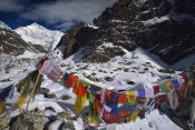Colin Monteath - Prayer flags at five thousand meters, Gotcha la, Kangchenjunga, India