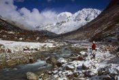 Colin Monteath - Kabru Peak, winter snowfall, Rathong Chu, Sikkim Himalaya, India