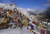 Colin Monteath - Iced up prayer flags, Dzong Ri, Kangchenjunga, Sikkim Himalaya, India