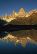 Colin Monteath - Fitzroy Massif reflection at dawn, Los Glaciares National Park, Patagonia, Argentina