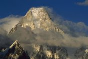 Ned Norton - Gasherbrum IV western face amid clouds, Karakoram Mountains, Pakistan