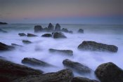 Andy Reisinger - Boulders and seastacks in evening light, Bay of Plenty, New Zealand