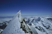 Ned Norton - Climber on summit of Mount Cook, Mount Cook NP, New Zealand