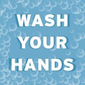 BG.Studio - Bathroom Signs - Bubbles - Wash Your Hands
