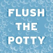BG.Studio - Bathroom Signs - Bubbles - Flush the Potty