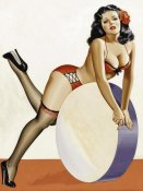 Peter Driben - Mid-Century Pin-Ups - Over a drum