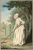 Louis Carrogis de Carmontelle - The Duchess of Chaulnes as a Gardener in an Allée, 1771