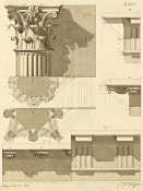 Giuseppe Vannini - Plate 55 for Elements of Civil Architecture, ca. 1818-1850
