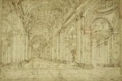 Unknown - Interior of Saint Peter's Basilica, 17th century