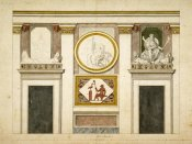 Tommaso Conca - Unexecuted elevation for the Stanza Egizia at the Villa Borghese, ca. 1770-1793