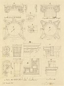 Giuseppe Vannini - Plate 20 for Elements of Civil Architecture, ca. 1818-1850