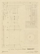 Giuseppe Vannini - Plate 13 for Elements of Civil Architecture, ca. 1818-1850