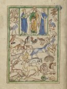 English 13th Century - Adam Naming the Animals