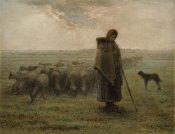 Jean-François Millet - Shepherdess and Her Flock
