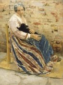 Max Liebermann - An Old Woman with Cat