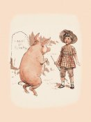 Advertisement - Pigs and Pork: Pig on Hind Legs and Little Girl