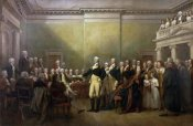 John Trumbull - General George Washington Resigning his Commission