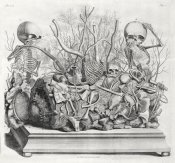 Cornelis Huyberts - Diorama of fetal skeletons arranged with various internal organs