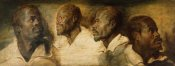 Workshop of Peter Paul Rubens - Four Studies of a Male Head