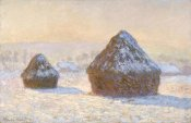 Claude Monet - Wheatstacks, Snow Effect, Morning (Meules, Effet de Neige, Le Matin)