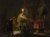 Rembrandt Harmensz van Rijn - Daniel and Cyrus Before the Idol Bel