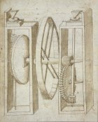 Francesco di Giorgio Martini - Two mills with wheel between