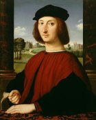 Circle of Raphael (Raffaello Sanzio) - Portrait of a Young Man in Red