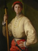 Pontormo (Jacopo Carucci) - Portrait of a Halberdier (Francesco Guardi?)
