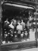 Eugène Atget - Paris, 1912 - Hairdresser's Shop Window, boulevard de Strasbourg