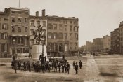 Silas A. Holmes -  14th Street with Union Square and Washington Monument, about 1855