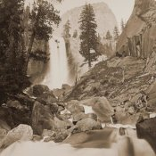 Carleton Watkins - Piwayac - Vernal Fall - 300 ft. Yosemite, California, 1861