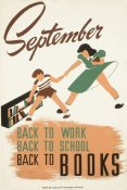 WPA - September - back to work - back to school - back to BOOKS