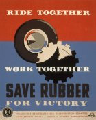 Harry-Russell Ballinger - Ride together - work together - save rubber for victory