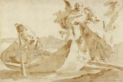 Giovanni Battista Tiepolo - Flight into Egypt (recto); Various Studies (verso)