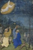 Master of the Houghton Miniatures (illuminator) - The Annunciation to the Shepherds