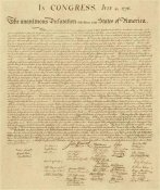 U.S. Government - U.S. Declaration of Independence - Decorative Sepia