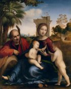 Baccio della Porta - The Rest on the Flight into Egypt with St. John the Baptist