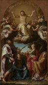 Pompeo Girolamo Batoni - Christ in Glory with Saints Celsus, Julian, Marcionilla and Basilissa