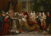 Frans Francken - The Idolatry of Solomon