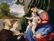 Lorenzo Lotto - Madonna and Child with Two Donors