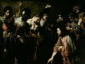Valentin de Boulogne - Christ and the Adulteress