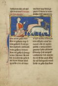 Unknown 13th Century Illustrator - Amos and Three Goats