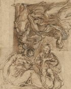 Parmigianino - Two Studies for a Holy Family