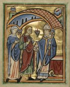 Unknown 12th Century English Illuminator - Joachim and Saint Anne before the High Priest