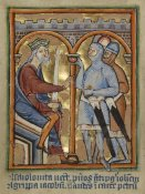 Unknown 12th Century English Illuminator - Herod Giving Orders to His Soldiers