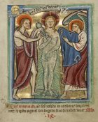 Unknown 12th Century English Illuminator - The Baptism of Christ