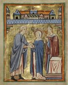 Unknown 12th Century English Illuminator - The Marriage of the Virgin