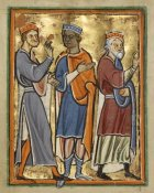 Unknown 12th Century English Illuminator - The Magi Approaching Herod